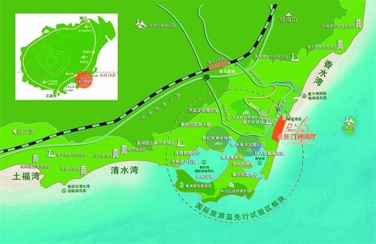 合景汀澜海岸区位图