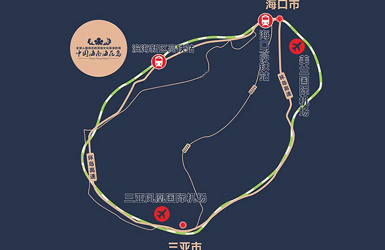 恒大海花岛 区位图