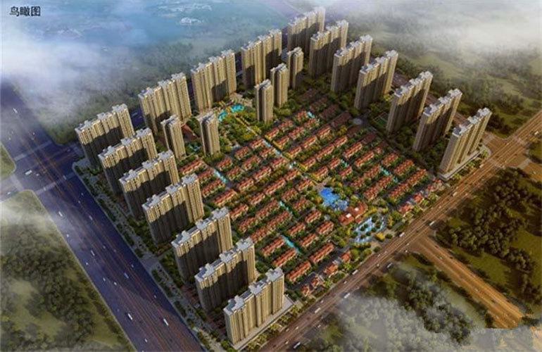 中电海湾国际社区 鸟瞰图