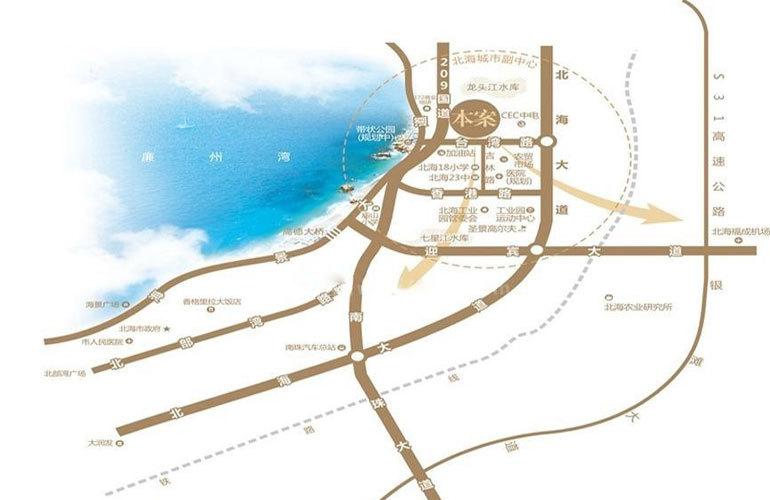 中电海湾国际社区 区位图