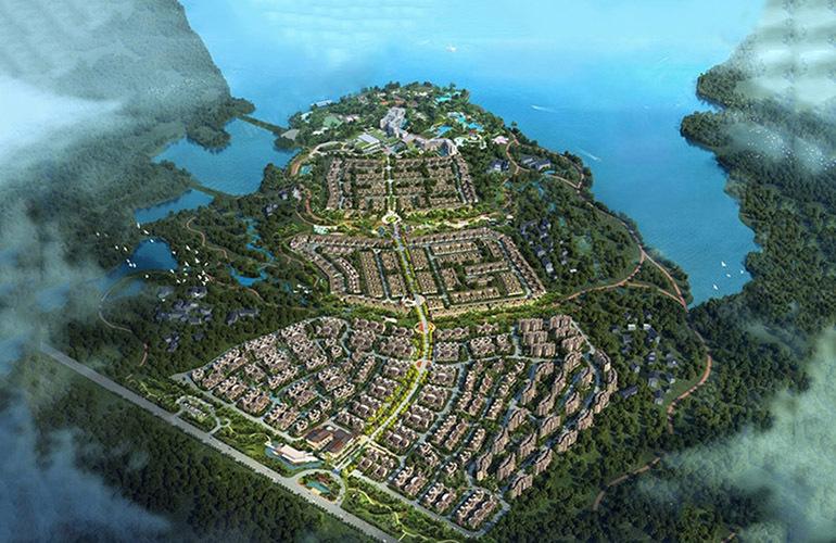 石梅半岛 鸟瞰图