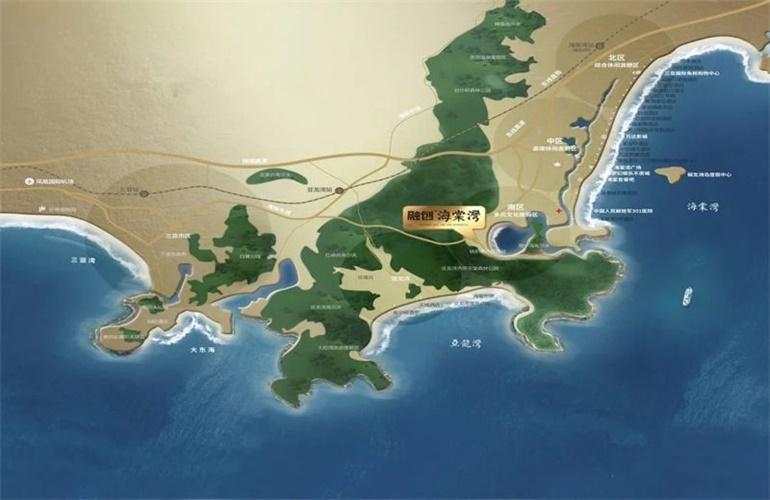 融创海棠湾 区位图