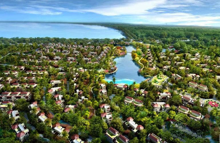 山湖海 鸟瞰图