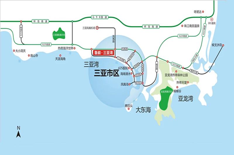 鲁能三亚湾 区位图