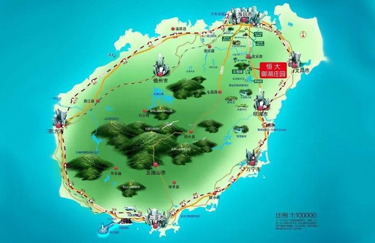 恒大御湖庄园 区位图