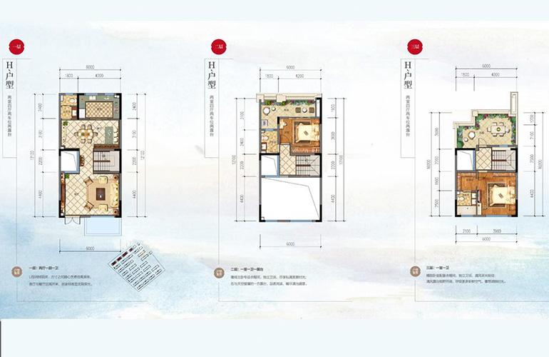 别墅H户型 2室4厅3卫 建面216㎡