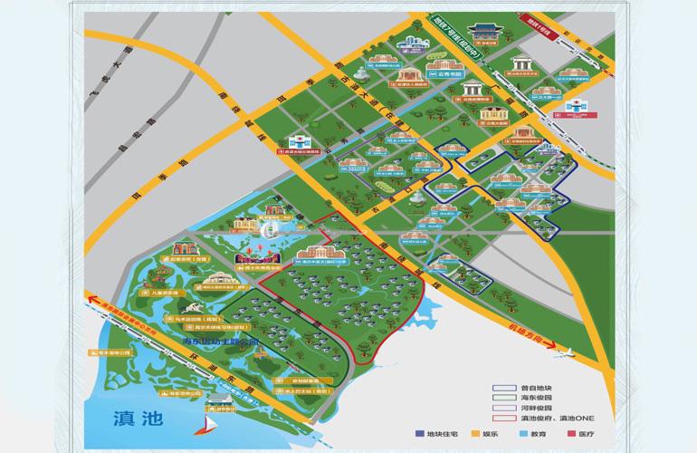 俊发生态半岛 规划图