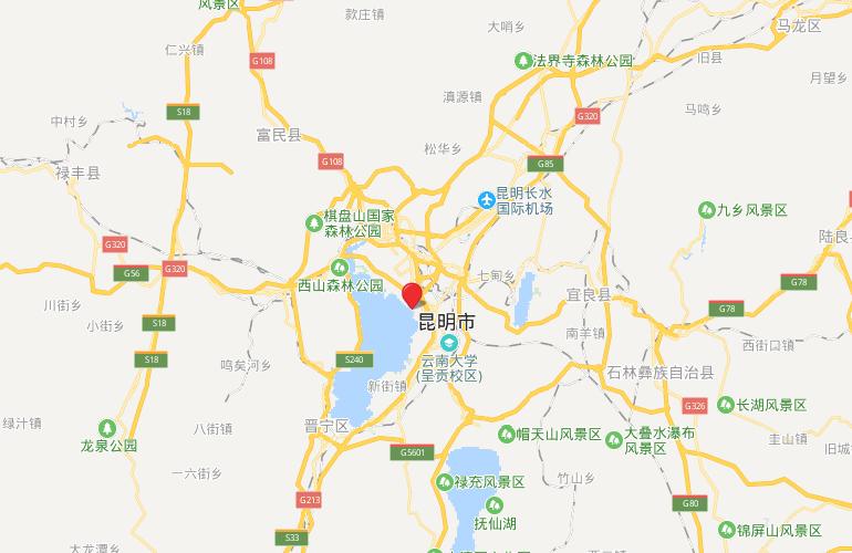 蓝光花田国际 区位图