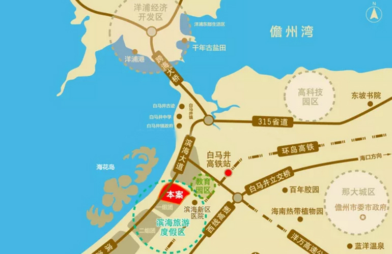 海阳城区位图