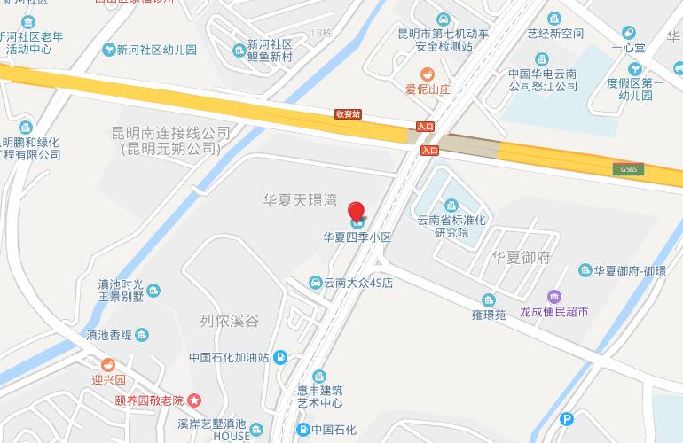 华夏四季 区位图