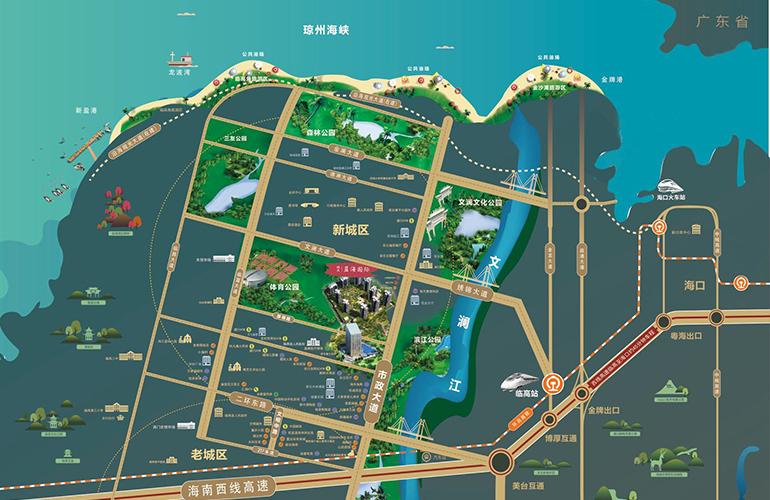 双杰蓝海国际区位图