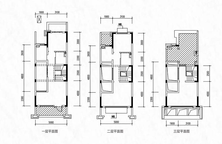 融创万达文旅城 别墅C1户型 4室2厅2卫1厨 120.70㎡
