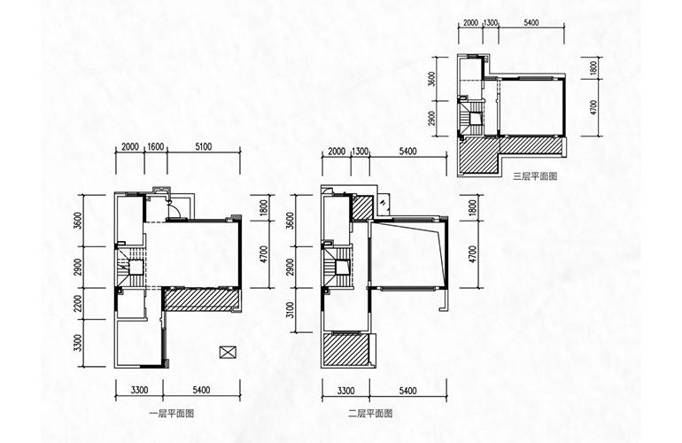融创万达文旅城 别墅D1户型 3室2厅3卫1厨 142.80㎡
