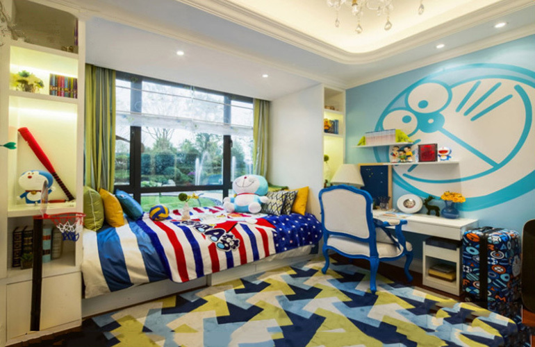 融创万达文旅城 样板间:哆啦A梦小可爱卧室