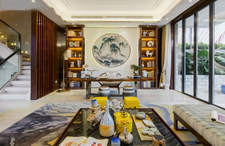 融创万达文旅城 样板间:典雅的客厅