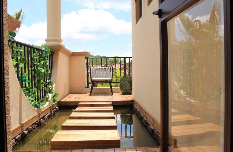 温泉山谷 样板间:阳台