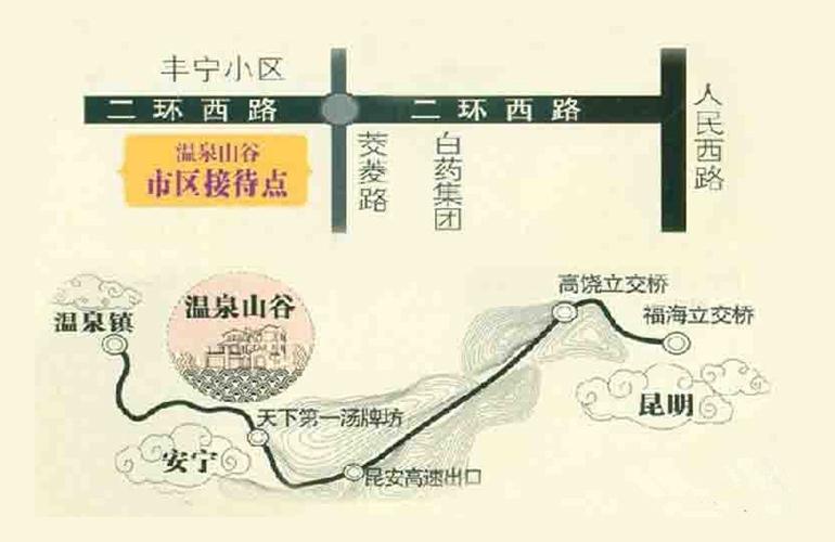 温泉山谷区位图