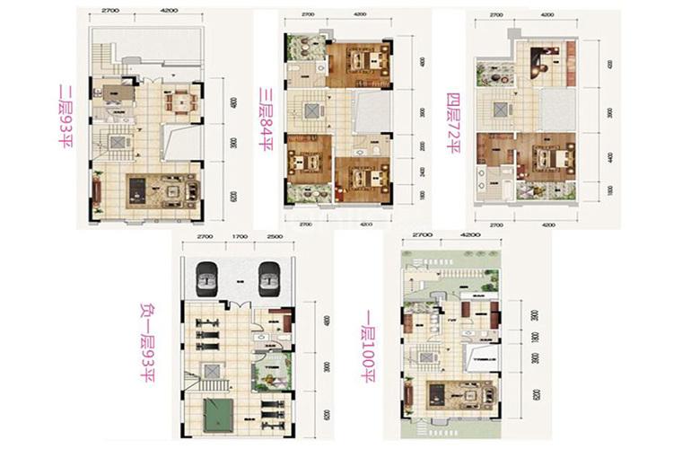 华夏天璟湾 L01N户型 9室7厅6卫1厨 442㎡