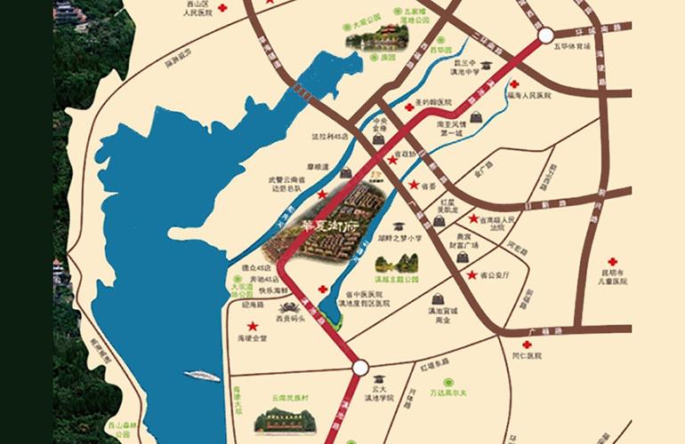 华夏天璟湾区位图