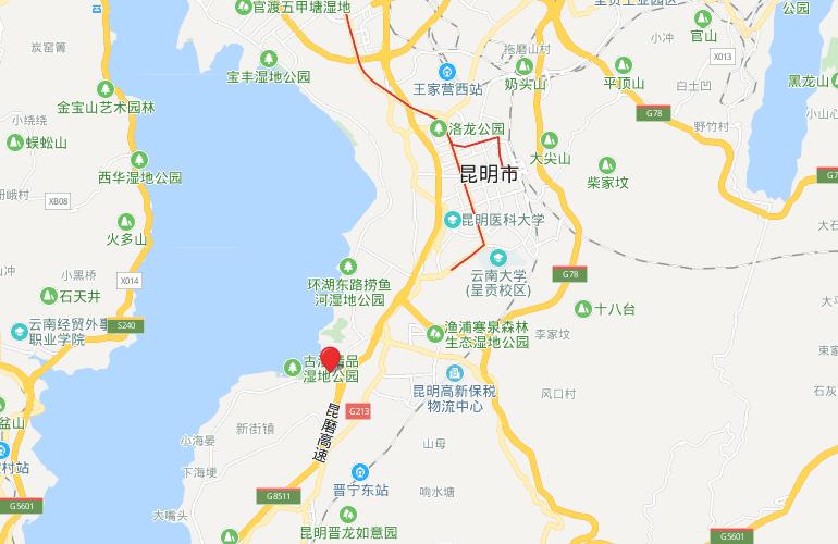古滇名城 区位图
