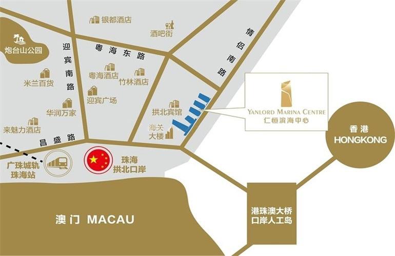 仁恒滨海中心区位图