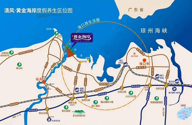 清凤黄金海岸区位图