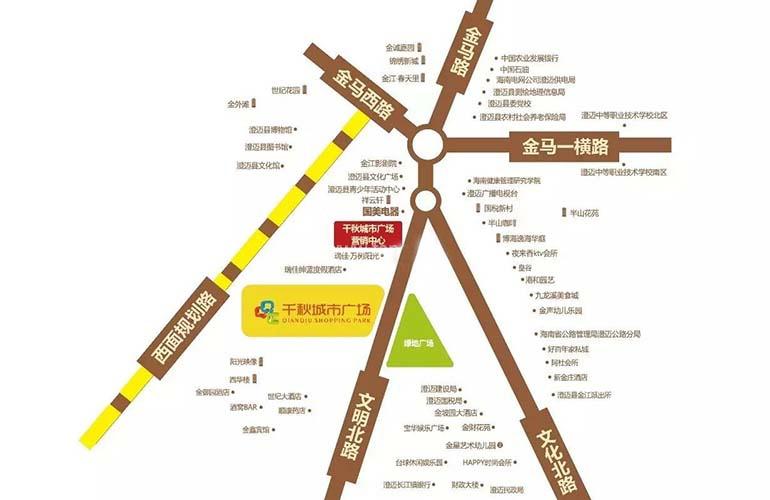 千秋城市广场区位图