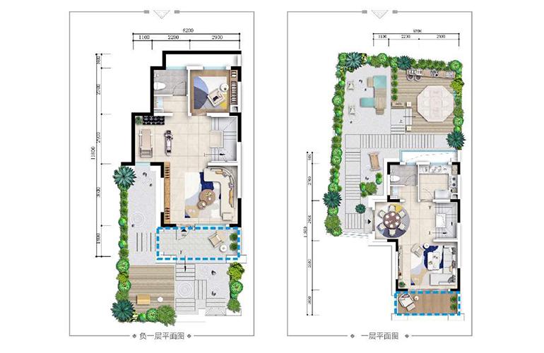 古滇名城别墅 山景小院G3户型下层 4室3厅4卫1厨 171㎡