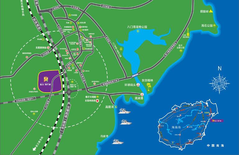 航天现代城区位图