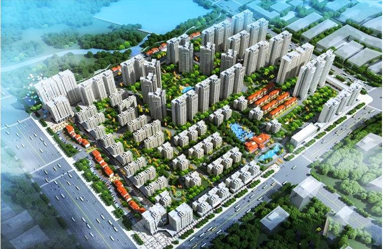 中电海湾国际社区鸟瞰图