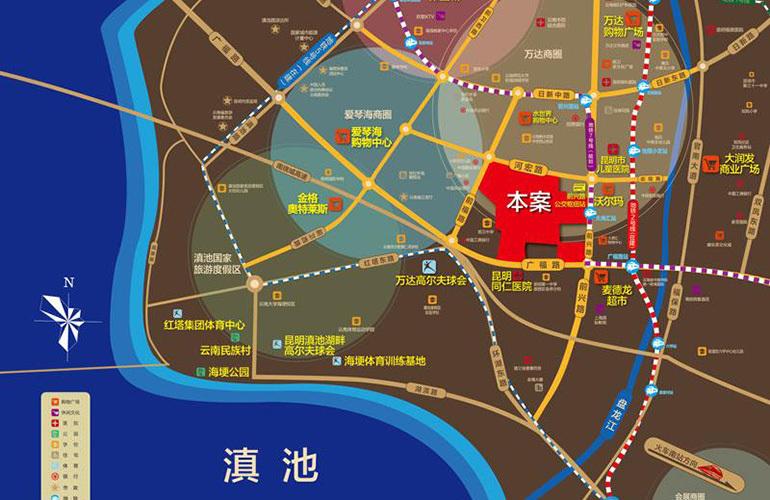 滇池名门 区位图