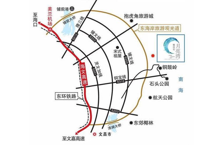 雅居乐月亮湾区位图