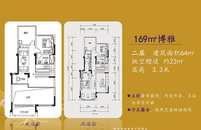 北大资源颐和1898 博雅户型二层 4室3厅2卫2厨 169㎡