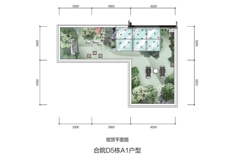 温泉山谷 A1户型三层 3室2厅3卫1厨 135.61㎡