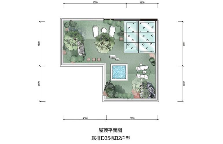 温泉山谷 B2户型三层 3室2厅3卫1厨 137.35㎡