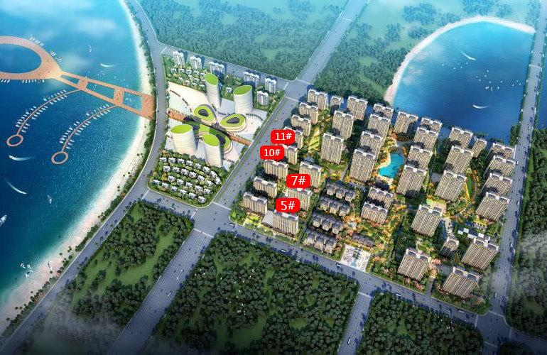中电海湾国际社区 楼栋分布图