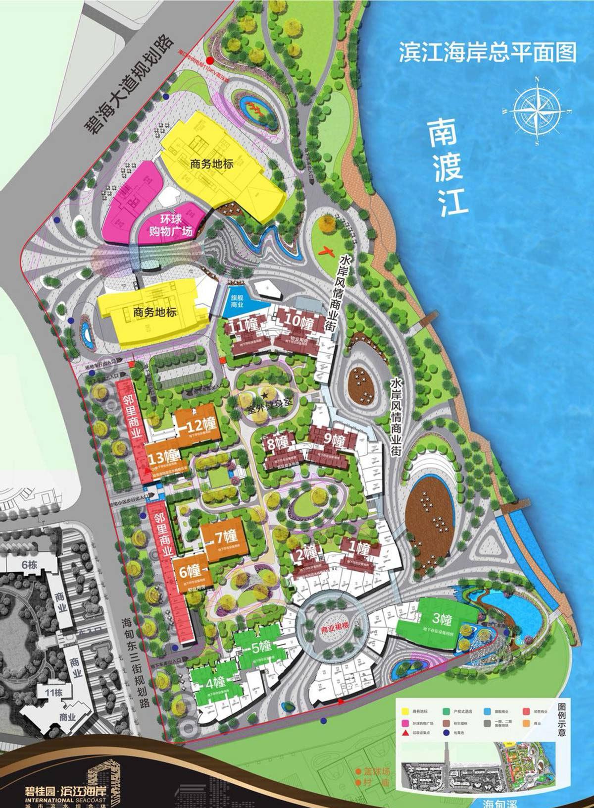 碧桂园滨江海岸 平面分布图