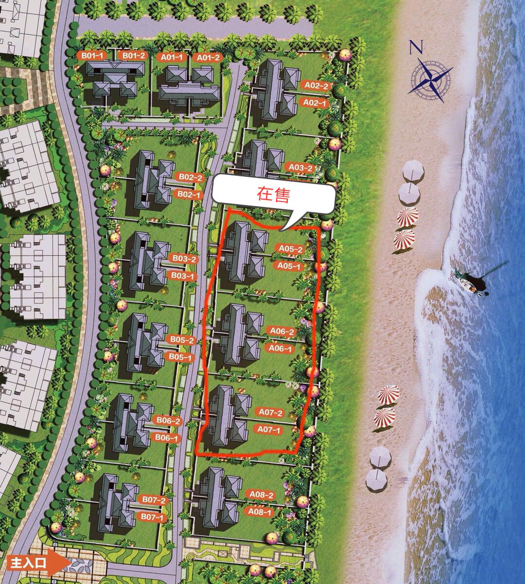 富力湾 K2海上院墅楼栋分布图