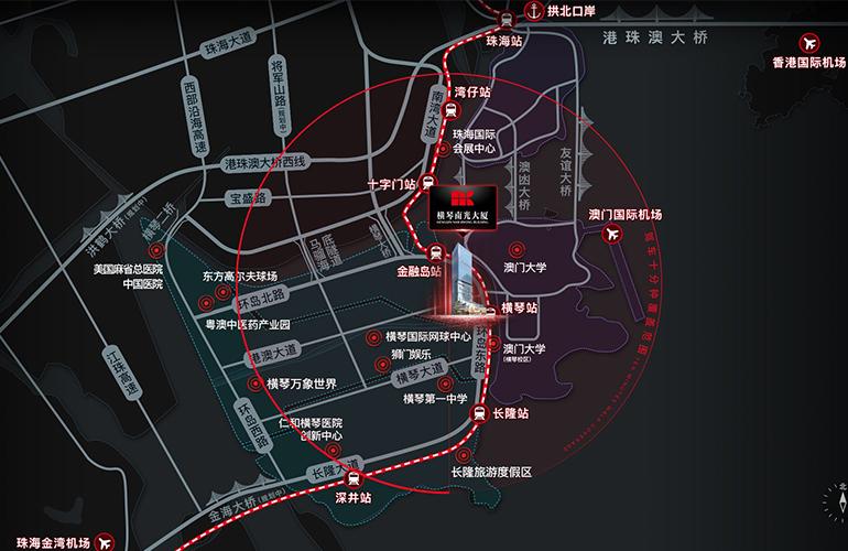横琴南光大厦区位图