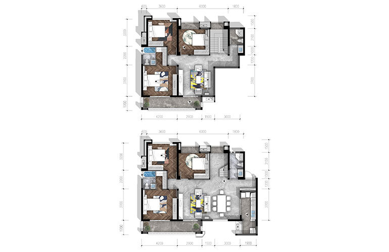 合谊·万璟台 a4户型6室3厅4卫244.23㎡
