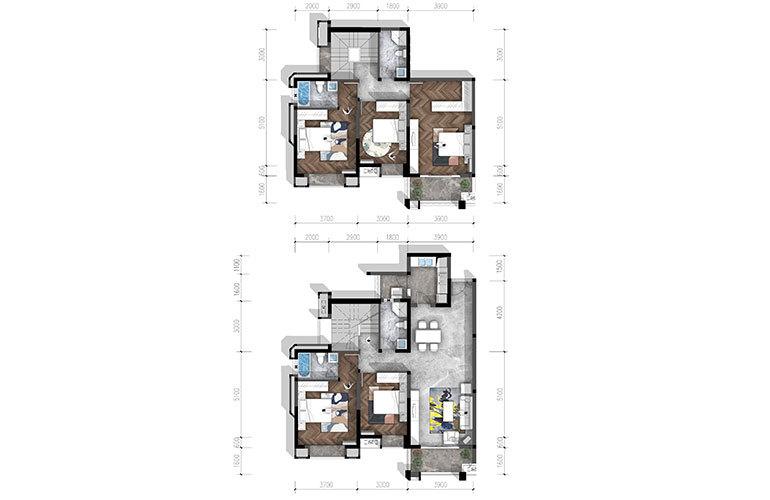合谊·万璟台 a5户型5室2厅4卫205.74㎡