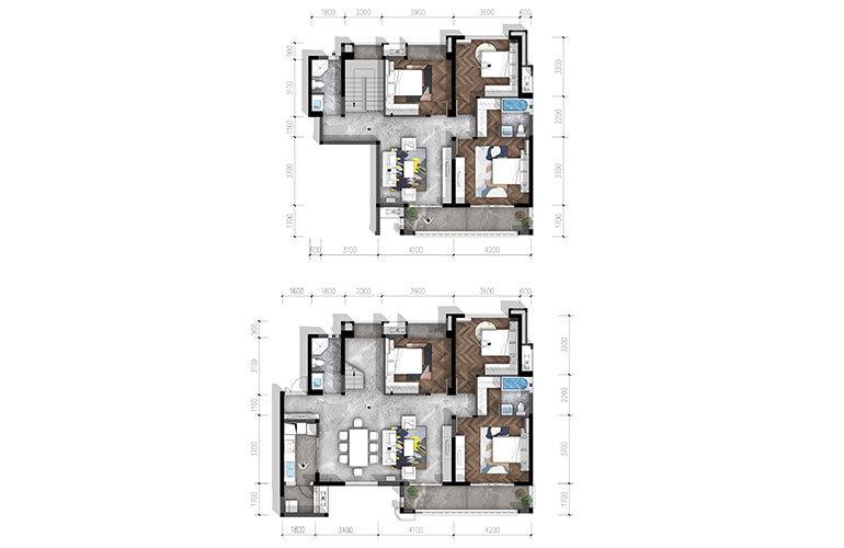 合谊·万璟台 a6户型6室3厅4卫266.91㎡