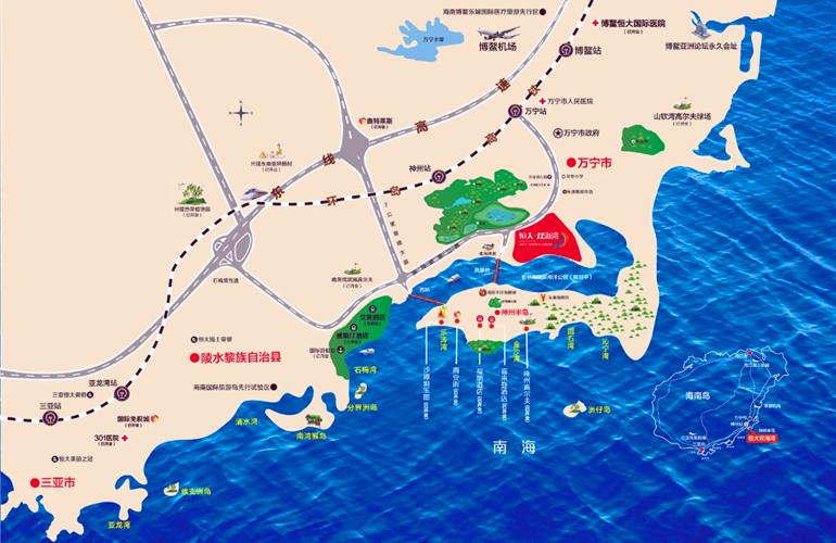 恒大双海湾区位图