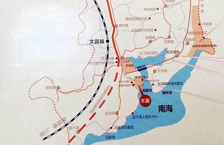金尊文府海景 区位图