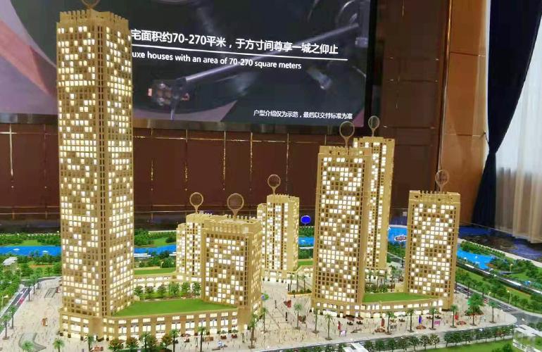 国维中央广场 沙盘实景图