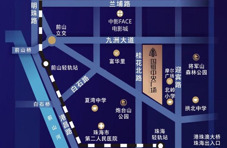 国维中央广场区位图