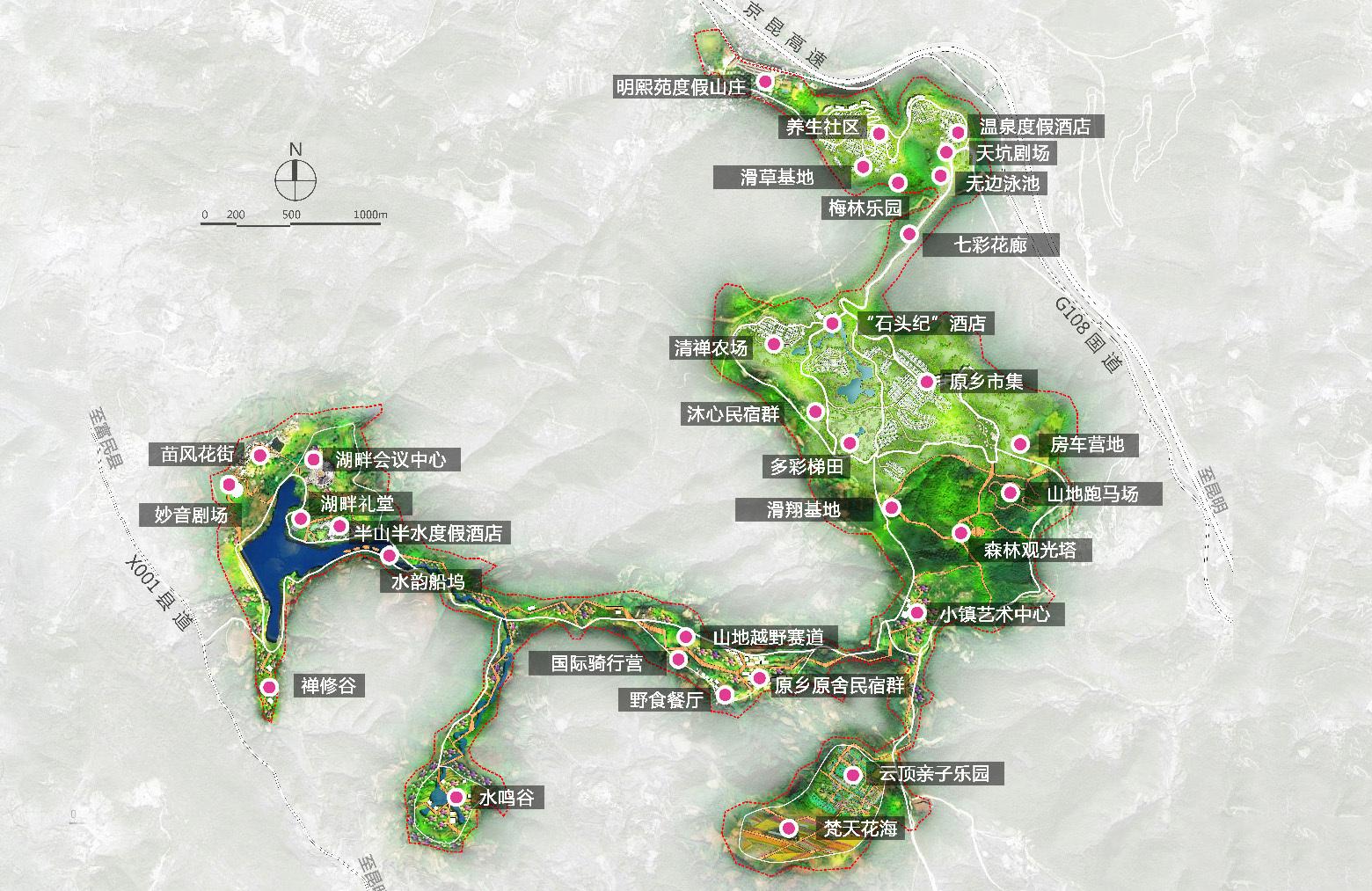 汉华天马山国际温泉度假区区位图