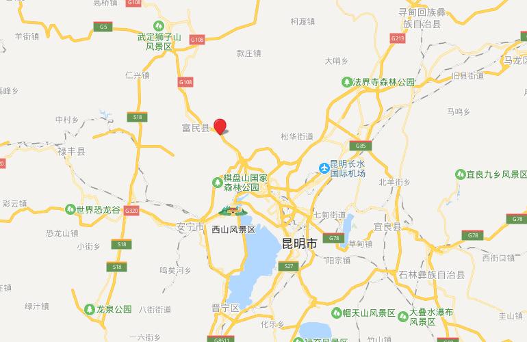 汉华天马山国际温泉度假区 区位图