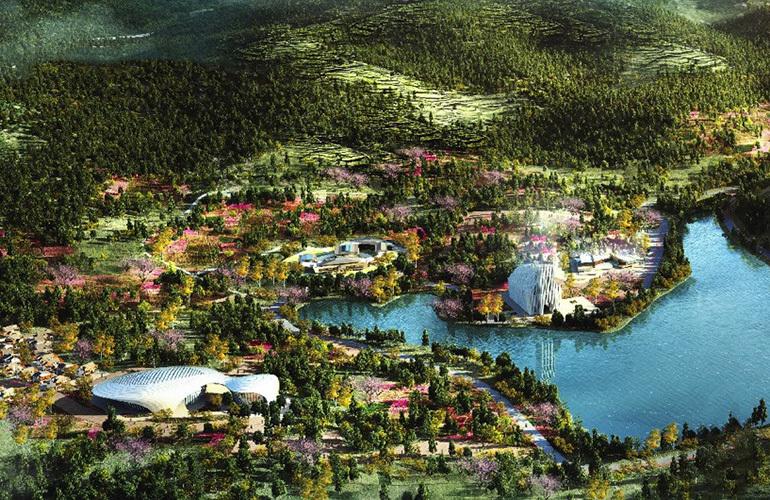 汉华天马山国际温泉度假区鸟瞰图