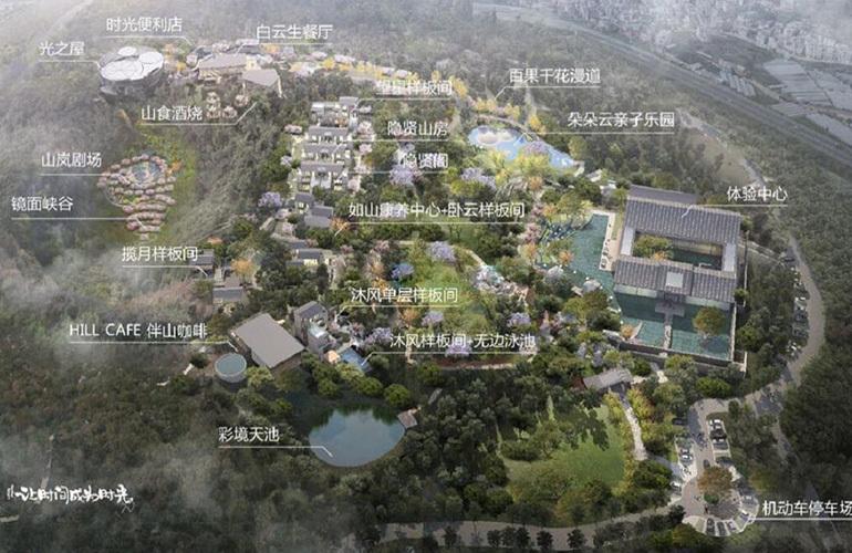 汉华天马山国际温泉度假区 规划图